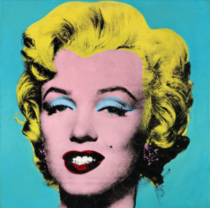 Andy Warhol's artwork Turquoise Marilyn